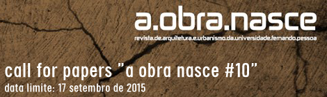 CALL REVISTA A OBRA NASCE #10