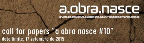 CALL REVISTA A OBRA NASCE #10